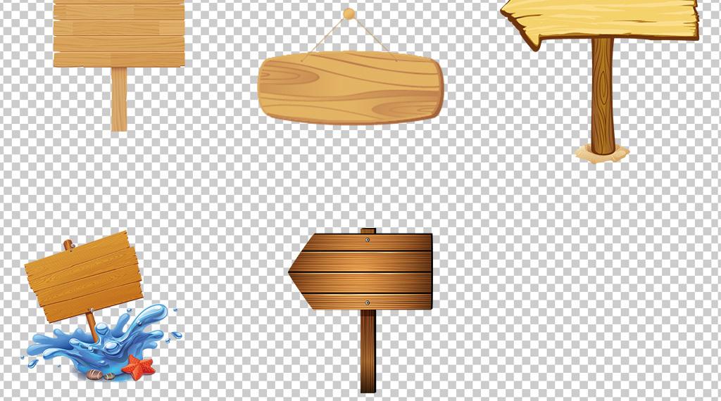 方向指示牌手绘模板木板地板实木木牌字