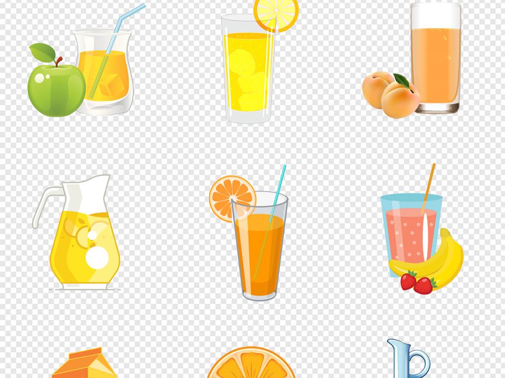 免抠元素 生活工作 食物饮品  > 卡通手绘饮品饮料冷饮果汁饮料罐png