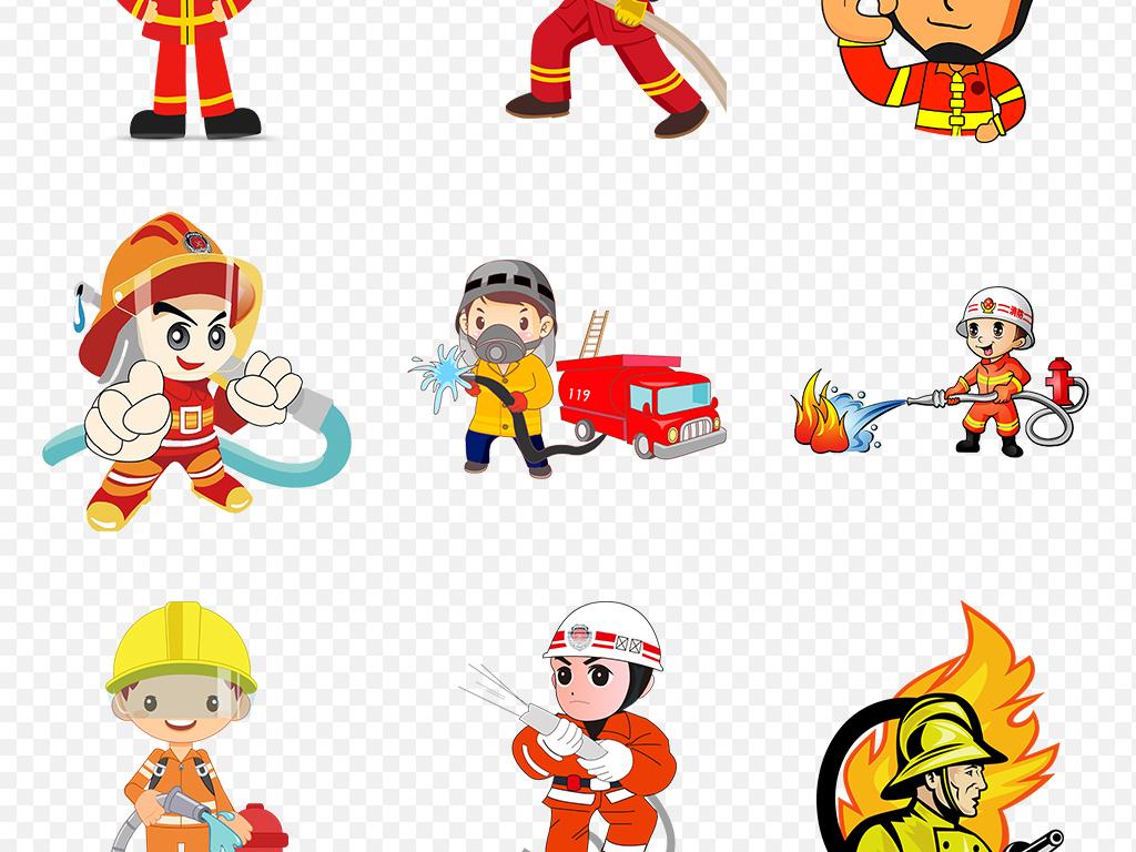 手绘漫画人物宣传动漫素材消防安全图片卡通图片背景图片手绘素材消防