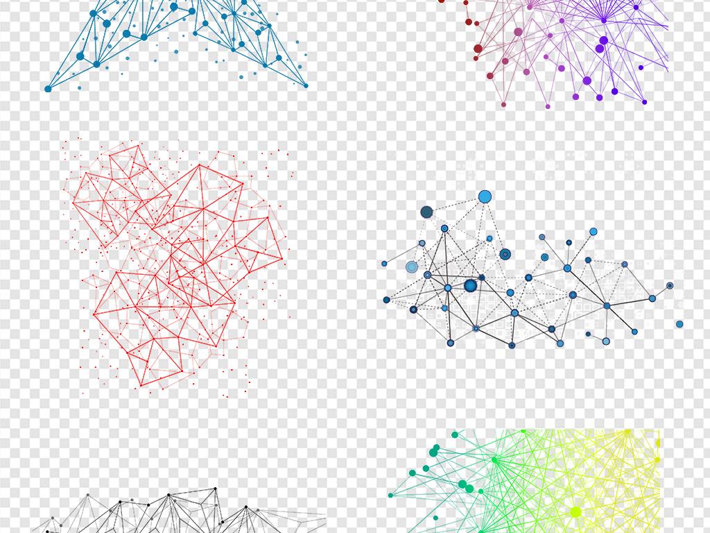电路板png装饰网状抽象几何抽象几何蓝色背景素材抽象背景蓝色几何