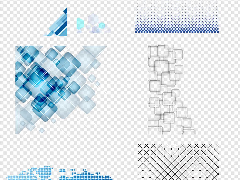 电路板元素蓝色科技地图大数据网格科技科技背景线条蓝色背景素材科技
