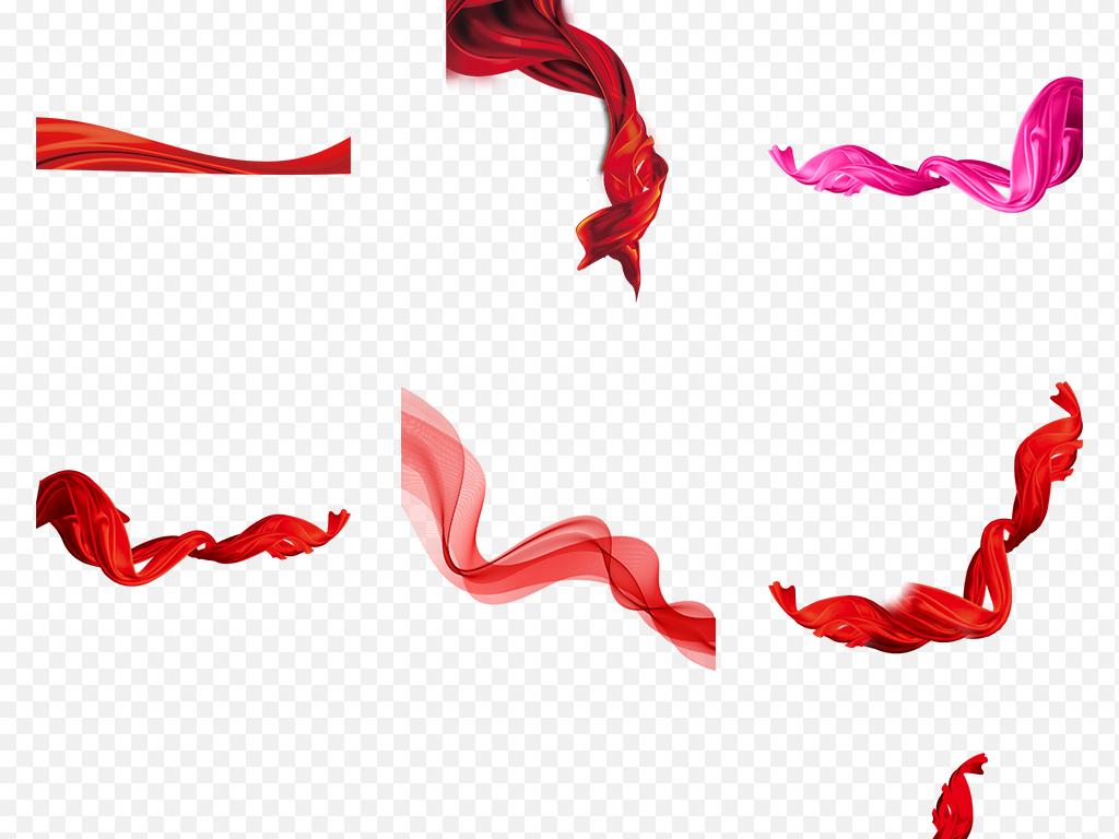 蝴蝶结背景国庆透明节日素材红色图片飘带背景图片丝带png图片红色