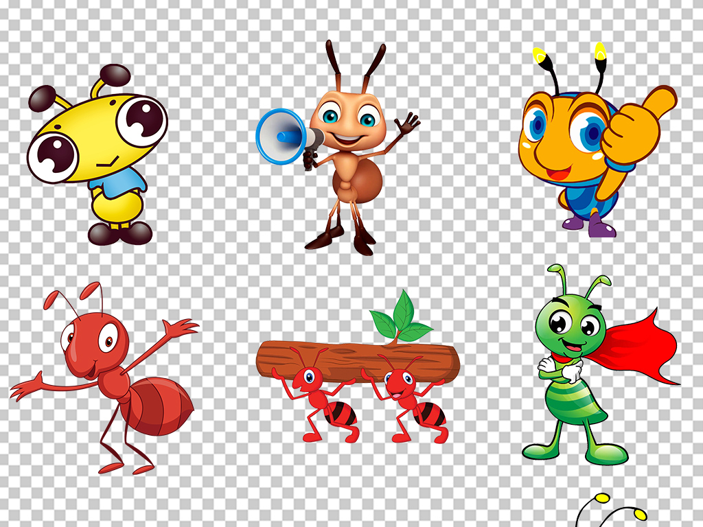动物手绘海报素材幼儿园蚂蚁卡通png揭晓长颈鹿美语怎么样图片
