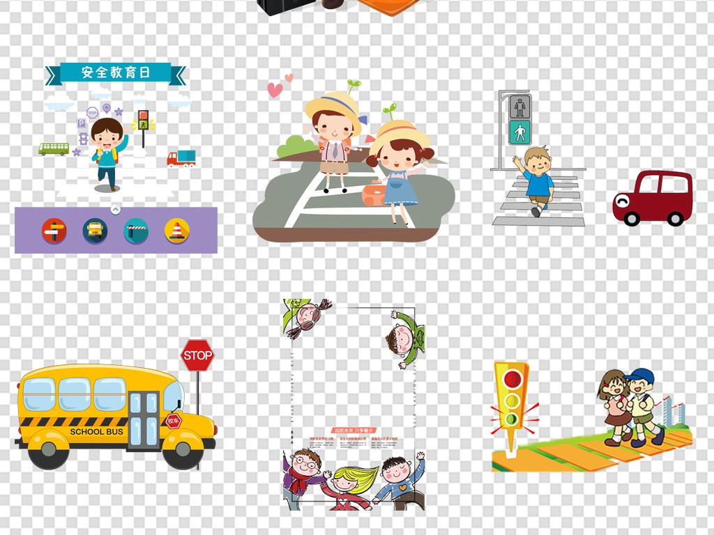 卡通交通安全漫画设计图__其他_动漫动画_设... _昵图网nipic.com