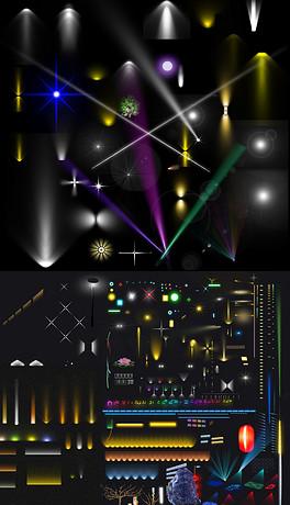 PSDled灯光效果 PSD格式led灯光效果素材图片 PSDled灯光效果设计模板 我图网