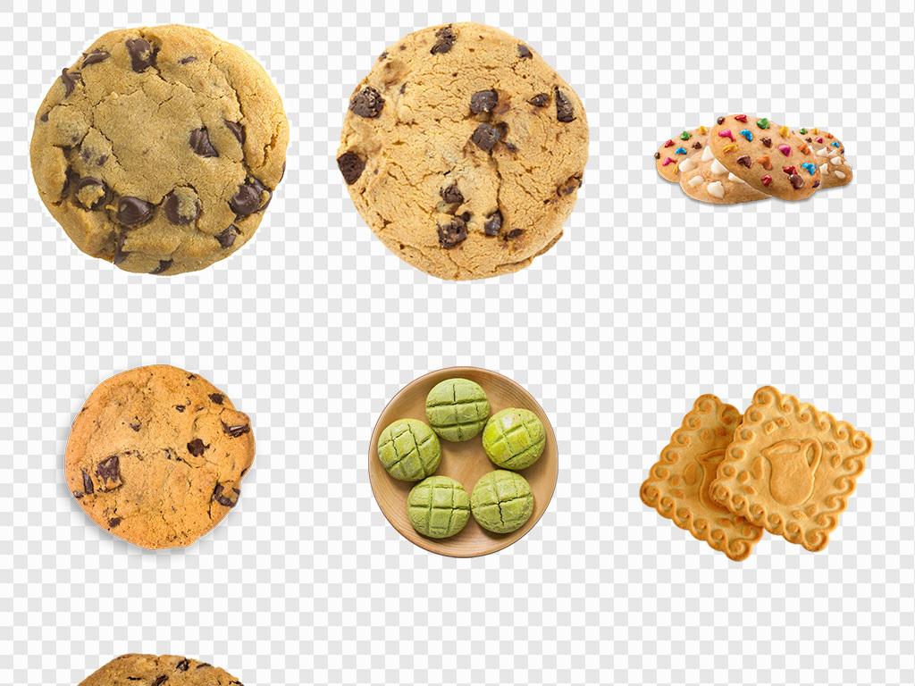 曲奇饼干夹心饼干创意手绘卡通曲奇png素材