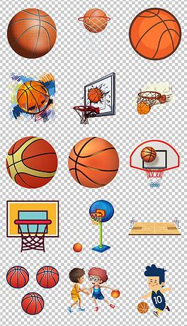 卡通篮球体育运动器材海报素材背景图片PNG-PNG户外背景图片