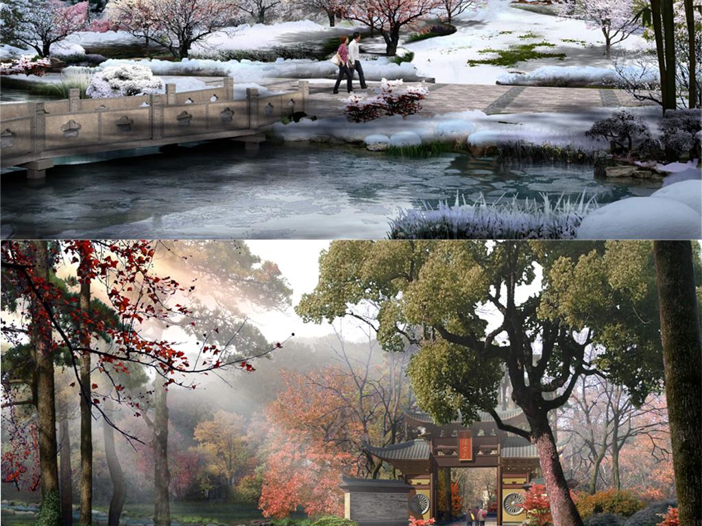 苏州园林景观规划psd分层图平面设计图下载(图片2,048图片
