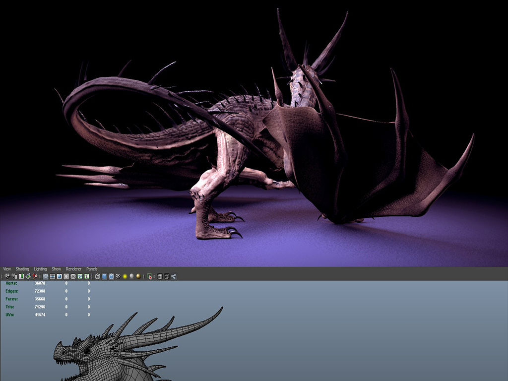 ya西方龙模型设计图下载 图片516.18MB 动物库 CG模型