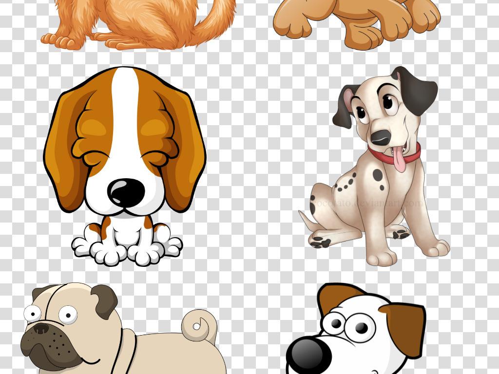卡通手绘狗狗宠物泰迪金毛哈士奇海报素材