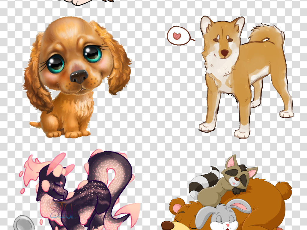 大全dog素材手绘素材手绘卡通卡通素材卡通手绘哈士奇手绘宠物泰迪