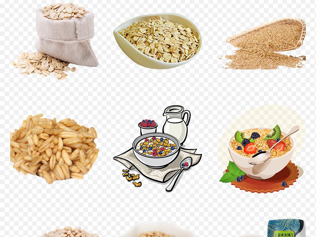 天然有机牛奶燕麦片麦片营养早餐海报素材背景图片
