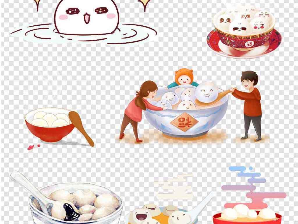 卡通可爱手绘元宵正月十五元宵节汤圆闹元宵图片素材 模板下载 86.44
