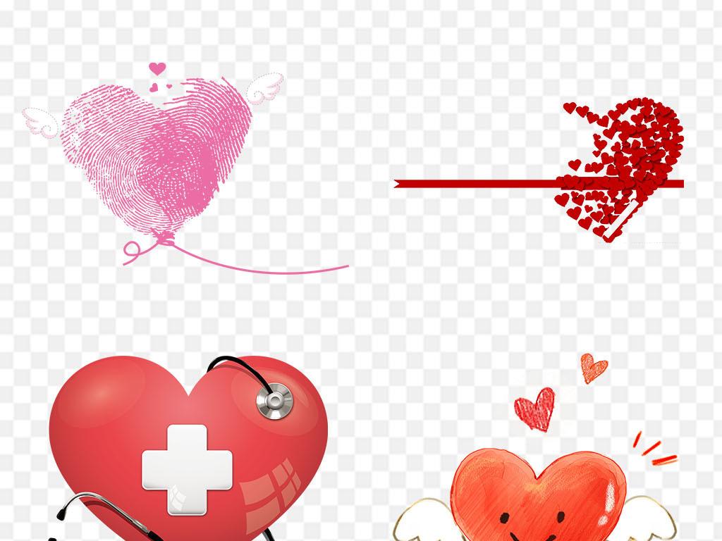 免抠元素 花纹边框 卡通手绘边框 > 手绘爱心爱情心形心动情人节png