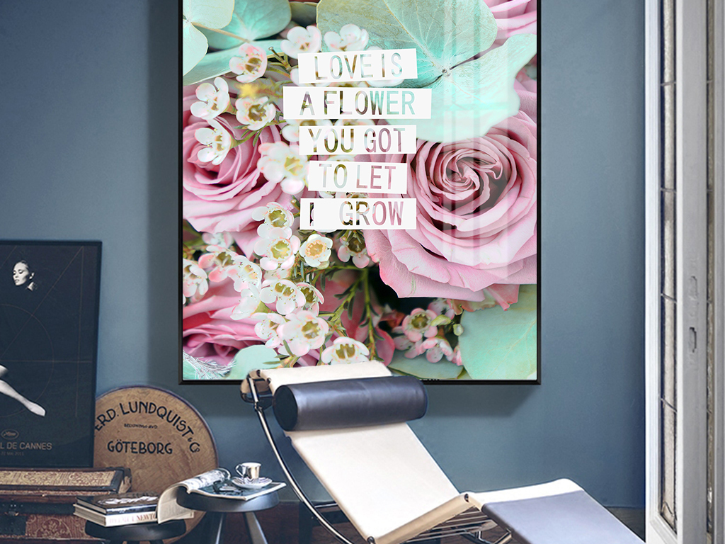 北欧小清新ins风玫瑰植物客厅玄关装饰画图片设计素材 高清psd模板下载 69.93MB 植物花卉装饰画大全