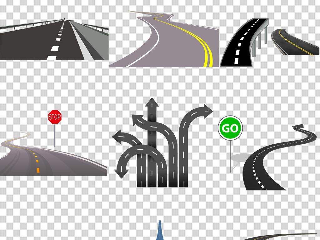 汽车公路手绘公路