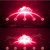 红色震撼科技互联网云手掌启动视频ae模版