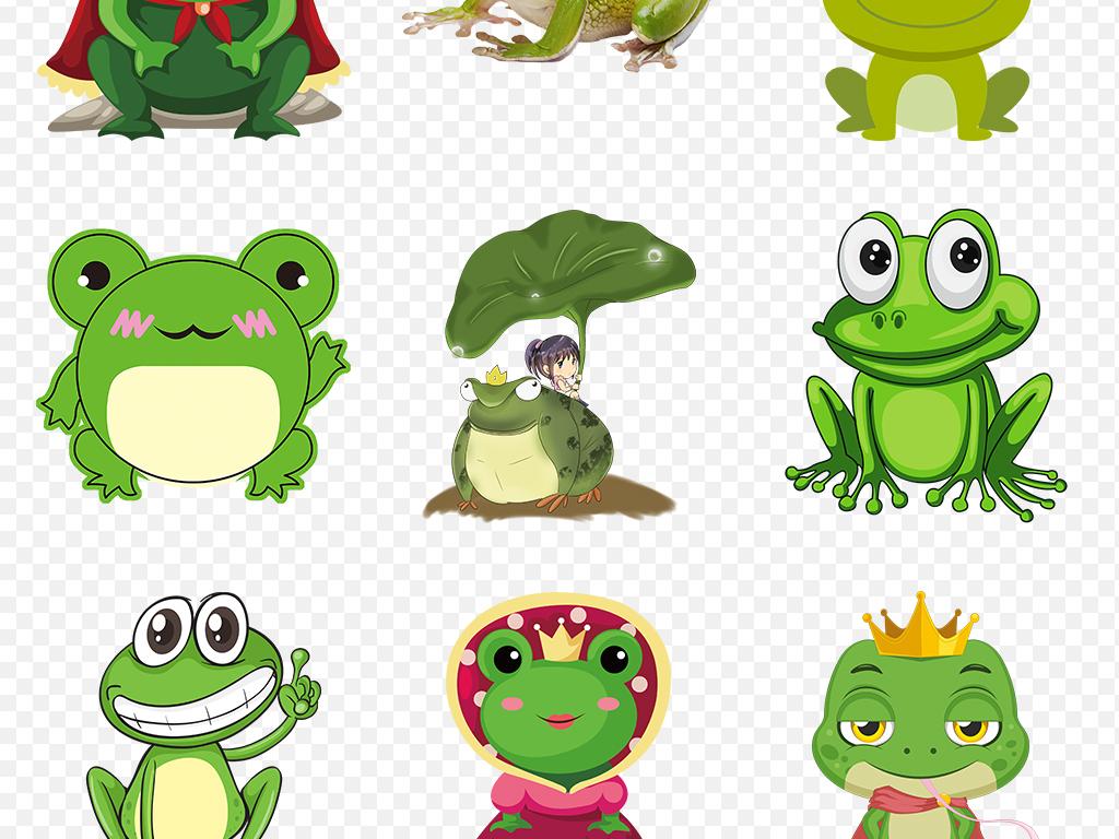 青蛙卡通图片青蛙荷叶蝌蚪小
