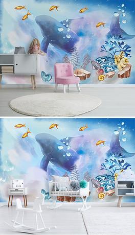 PSD格式卡通海洋背景素材图片 PSD卡通海洋背景设计模板 我图网
