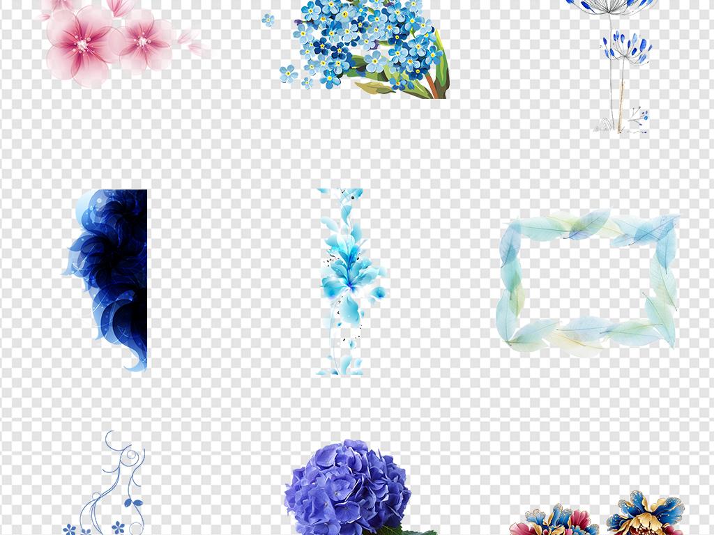 森系矢量花环玫瑰边框图片背景元素粉色花纹花瓣免抠标题框文本花朵