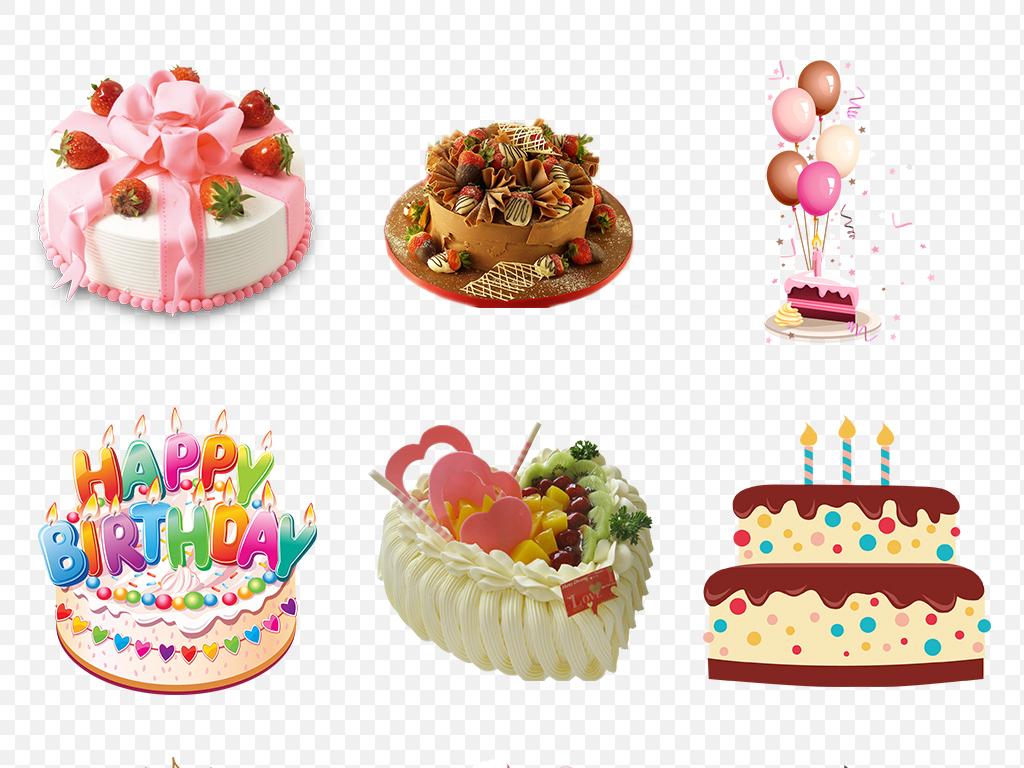 蛋糕素材雕花蛋糕节日蛋糕生日贺卡
