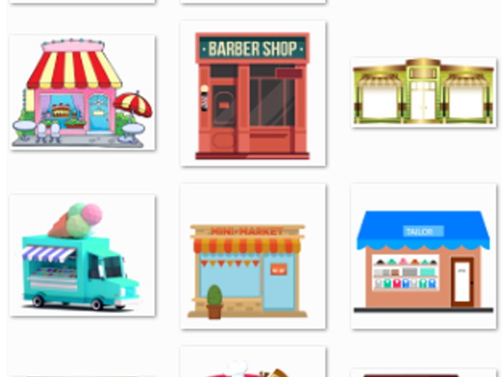 卡通店铺商店小卖部便利店图标矢量png素材图片