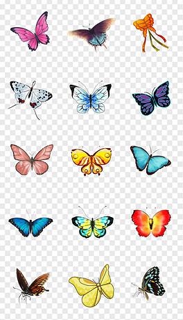 PNG唯美花蝶 PNG格式唯美花蝶素材图片 PNG唯美花蝶设计模板 我图网