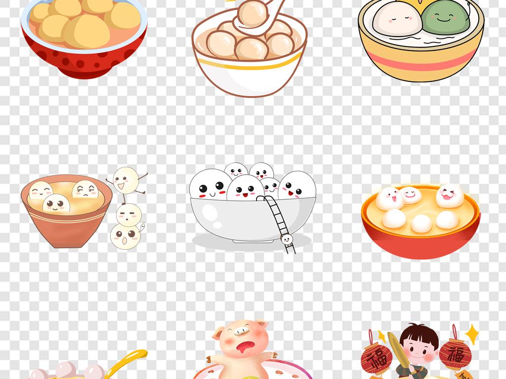 卡通可爱手绘元宵正月十五元宵节汤圆闹元宵图片素材 模板下载 37.92