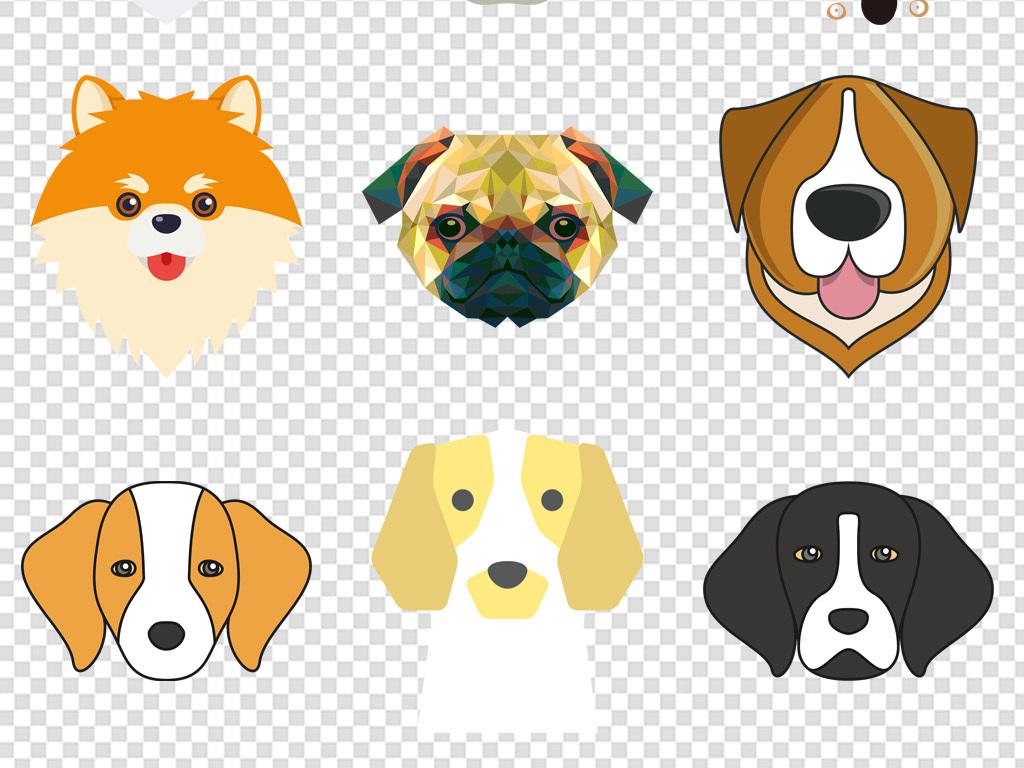 卡通手绘小狗宠物店宠物寄养海报展架素材png