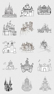 PSD房子建筑素描 PSD格式房子建筑素描素材图片 PSD房子建筑素描设计模板 我图网