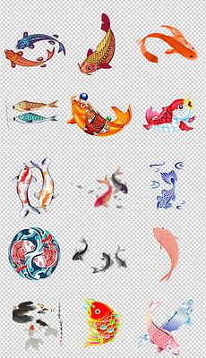 PPT卡通小金鱼 PPT格式卡通小金鱼素材图片 PPT卡通小金鱼设计模板 我图网