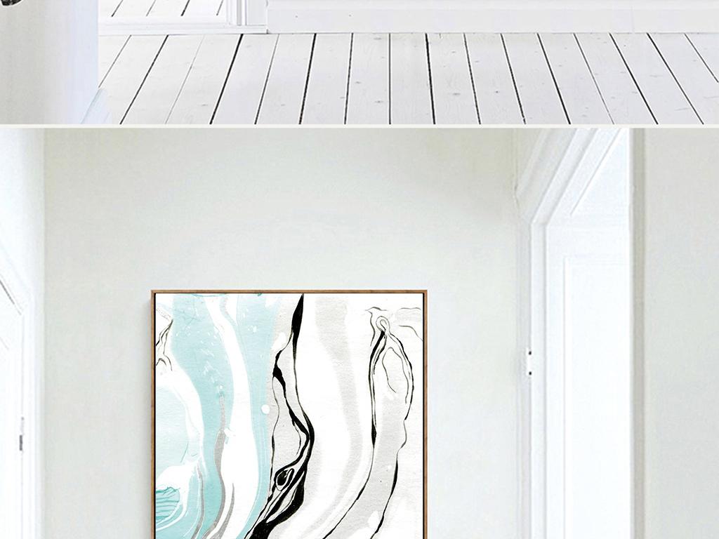 北欧ins风蓝色小清新抽象风景玄关装饰画图片设计素材 高清模板下载 29.98MB 森林风景装饰画大全