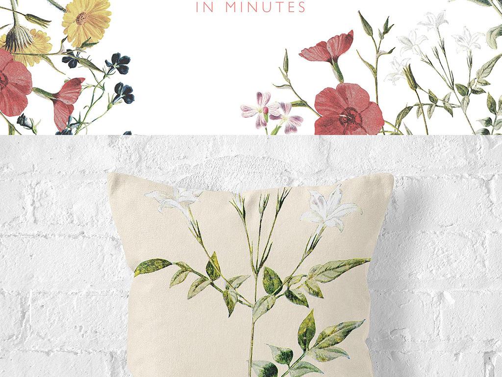 花卉边框画淘宝花卉边框小清新手绘花卉卡通边框手绘素材手绘卡通边框