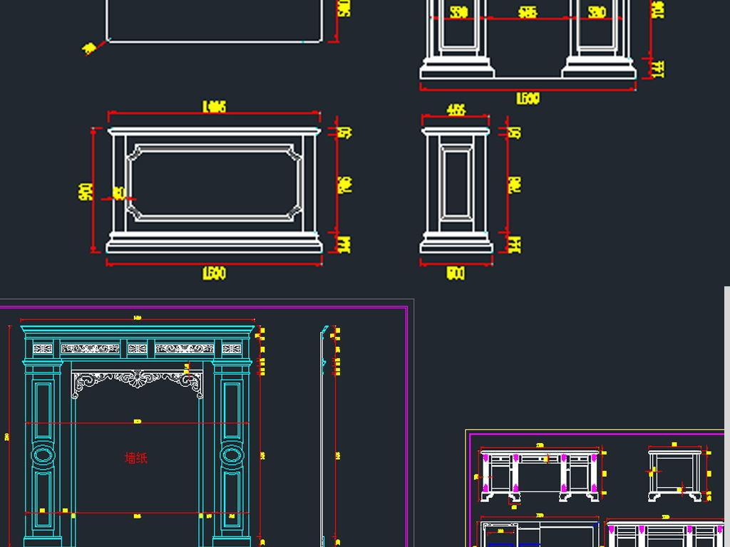 架欧式法式美式新中式拼花欧式护墙板欧式图库设计护墙整木展厅板设计图片