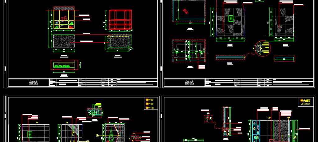 140平米瓷砖展厅设计cad施工图纸平面图下载(图片12.
