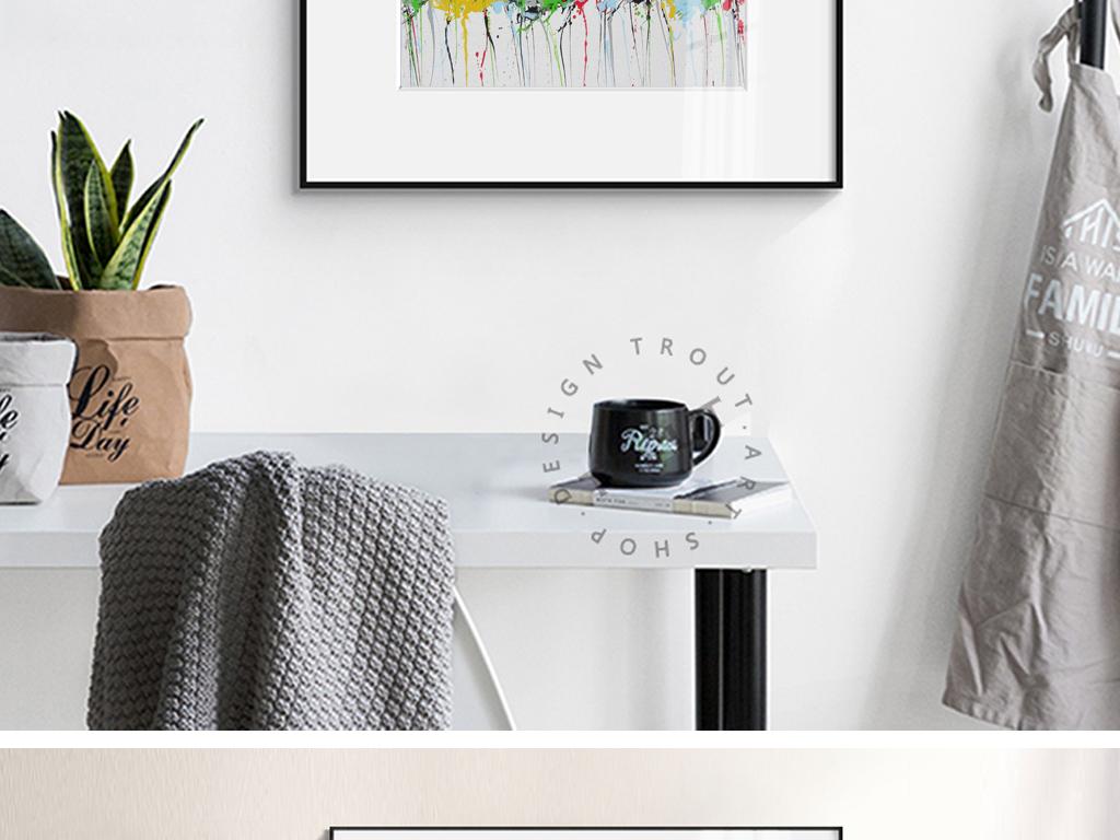 现代简约装饰画极简风景装饰画花卉装饰画手绘装饰画大自然