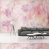 粉色羽毛背景墙