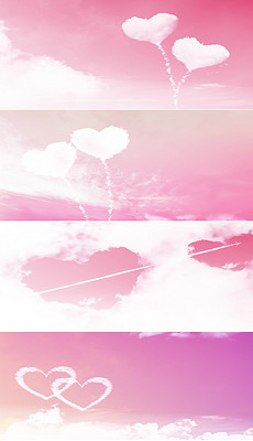 EPS浪漫心形云彩 EPS格式浪漫心形云彩素材图片 EPS浪漫心形云彩设计模板 我图网图片