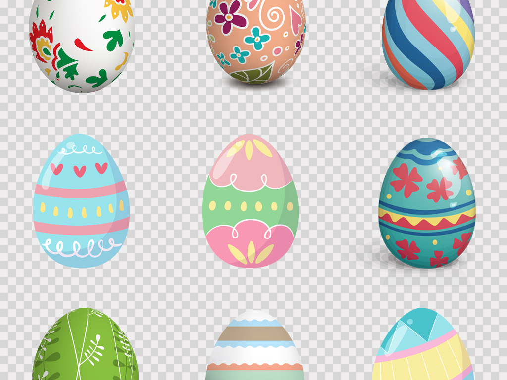 手绘卡通可爱复活节小兔子小动物手绘彩蛋PNG素材图片 模板下载 20.09MB 其他大全 生活工作