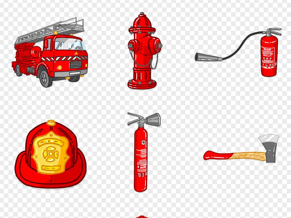 消防防范元素图标消防用具培训消防车灭火器安全帽ai矢量图片素材 ai模板下载 16.04MB 其他大全 生活工作