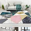 北欧现代简约抽象大理石纹几何客厅地毯地垫