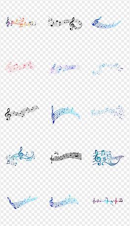 PNG五线谱音符符号图片