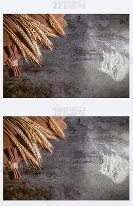 小麦背景素材