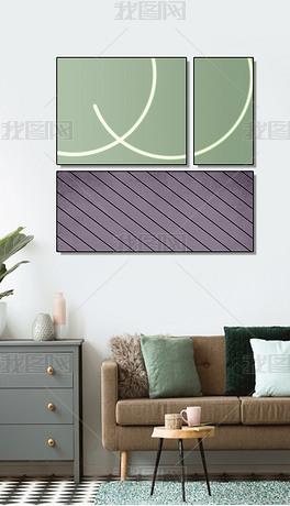 现代几何抽象创意几何组合客厅北欧轻奢装饰画