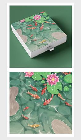PSD池塘中的鱼 PSD格式池塘中的鱼素材图片 PSD池塘中的鱼设计模板 我图网