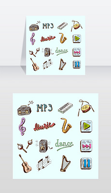手绘MP3图片素材 手绘MP3图片素材下载 手绘MP3背景素材 手绘MP3模板下载 我图网