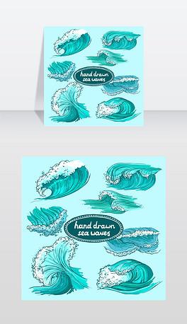 EPS海水波浪 EPS格式海水波浪素材图片 EPS海水波浪设计模板 我图网