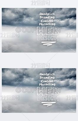 天空背景下的网页设计术语青岛v天空包装设计公司图片