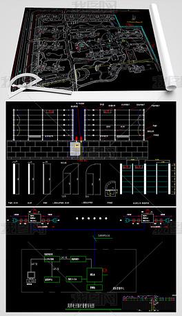 CAD电子标志围栏脉冲设计图阿玛尼系统设计理念图片