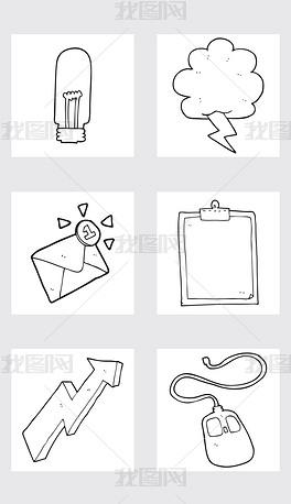 EPS手绘灯泡 EPS格式手绘灯泡素材图片 EPS手绘灯泡设计模板 我图网